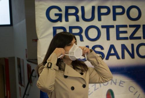 Caracol 3D printed mask kit donation to Comune di Cusano Milanino, Major
