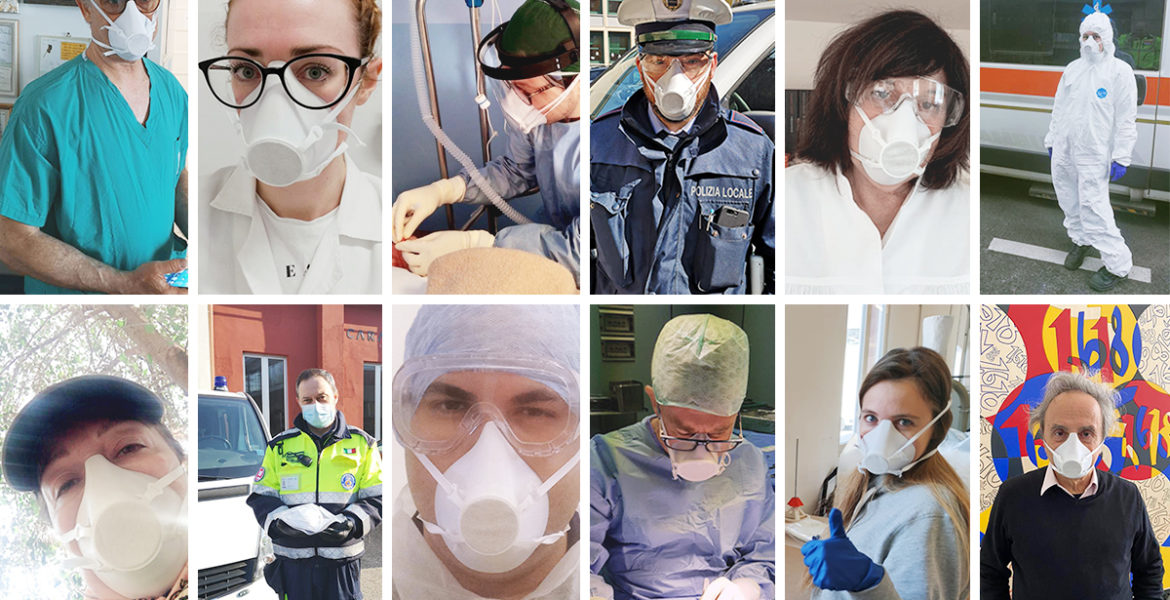 3D Printed Masks Donated to Institutions across Italy
