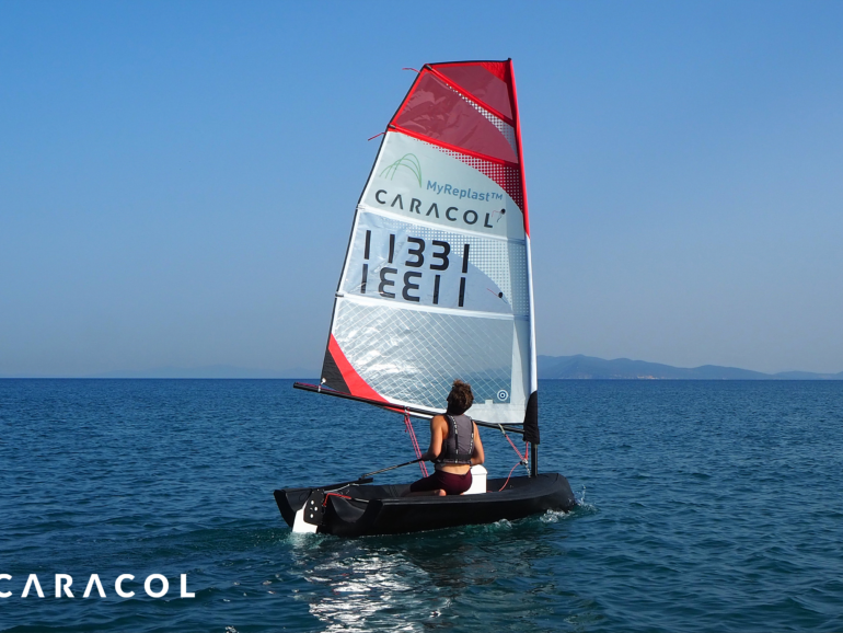 Caracol and NextChem bring to life Beluga: the world's first 3D printed sailing boat,  produced in one piece with recycled MyReplast™ material for the Milano Design Week 2021
